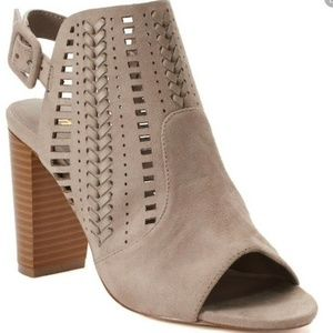 Madden NYC Taupe Bootie Open Toe Chesterr 9.5